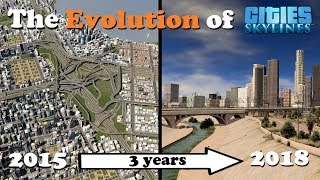 The evolution of Cities: Skylines in 3 years!
