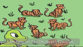 European Portuguese learning stories for kids - Eu Portuguese Numbers storybook