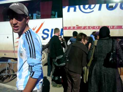 Messi at Essaouira, Morocco bus