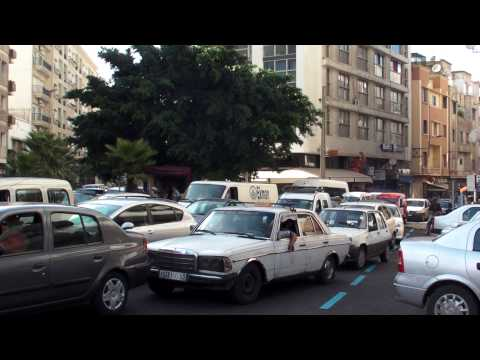 モロッコ カサブランカ 市街地の渋滞