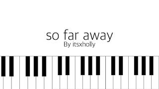 so far away // agust d // piano tutorial