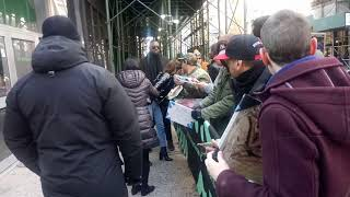Jessica Szohr signs and takes pictures with fans at AOL Build Studio.