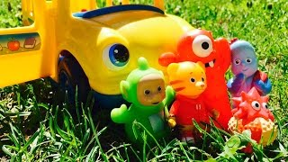 TELETUBBIES and IN THE NIGHT GARDEN Toys Ride School Bus!