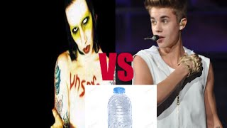 When fans throw water bottle on stage: Justin Bieber vs Marilyn Manson