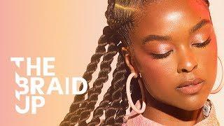 Stitch Braids with Senegalese Twists | The Braid Up | Cosmopolitan