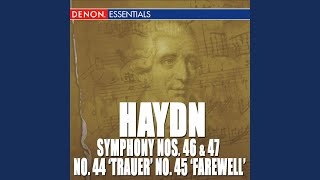 "Symphony No. 45 in F-Sharp Minor ""Farewell"": IV. Finale: Presto - Adagio"