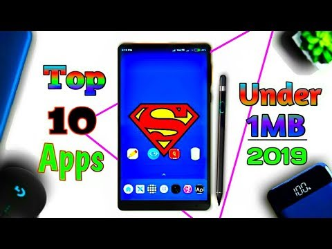 Download thumbnail for Top 10 Android Apps Under 1MB 2019 | Top 10