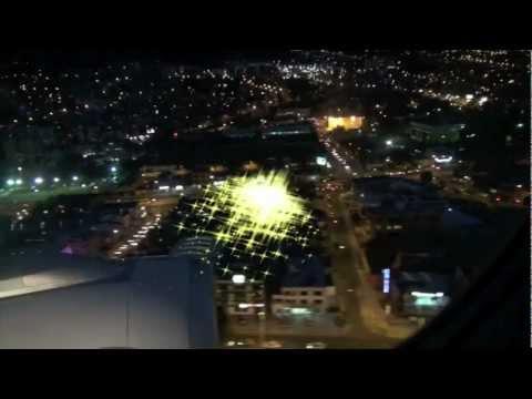 Quito (ecuador) на закате с самолёта 1.mov