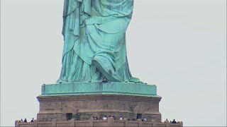 Statue of Liberty Banner Hangers Arrested