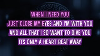 When I Need You Karaoke Version by Celine Dion (Video with Lyrics)