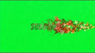 YouTube SUBSCRIBE Button Animation Text Effect (Green Screen)
