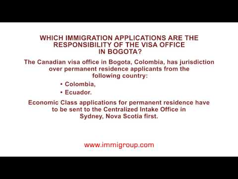 Jurisdiction of the visa office in Bogota for permanent residence applicants
