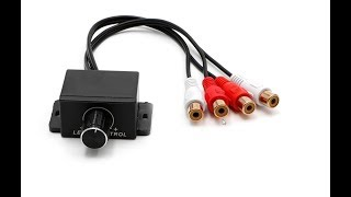 Universal Car Audio Amplifier Bass RCA Level Remote Volume Control Knob
