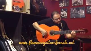 Jesús de Rosario plays the Ricardo Sanchis Carpio 1F Extra 2002 flamenco guitar for sale