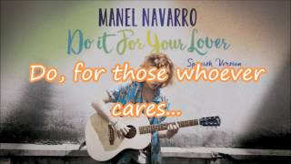 Manel Navarro - Do It For Your Lover | Lyrics