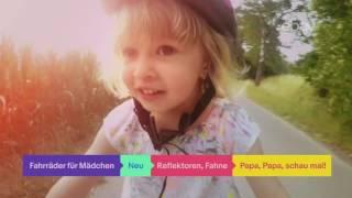 ebay Werbung - kleines Mädchen mit Fahrrad Sommer 2017