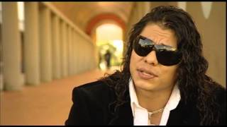 Juventud Guerrera speaking about WCW. Bloodstained Memoirs Special Edition DVD Extras Preview.