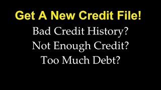 We Never Pay Collections or Bad Credit | Get A NEW Credit File 100% Legally width=