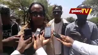 feffe bussi doing a frestly about Bobi wine's arrest