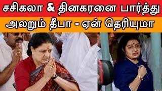 சசிகலா & தினகரனை  பார்த்து அலறும் தீபா ஏன் தெரியுமா | Deepa | Sasikala | TTV Dinakaran | AMMK