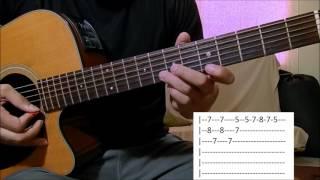 Temporal de amor - Leandro e Leonardo aula solo violão