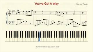 """How To Play Piano: Shania Twain """"You've Got A Way"""" Piano Tutorial by Ramin Yousefi"""