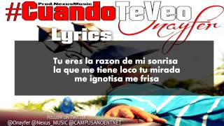 Onayfer - Cuando te veo (Official Video Lyric)  Prod.Nexus Music