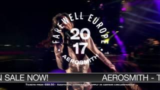 """AEROSMITH - """"AERO-VEDERCI BABY"""" THE 2017 EUROPEAN FAREWELL TOUR - ON SALE NOW"""