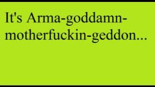 ARMA-GODDAMN-MOTHERFUCKIN-GEDDON - MARILYN MANSON LYRICS