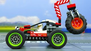 Lego Experimental Cars and Bulldozer, Concrete Mixer Excavator and Transforming Mecardimals for kids