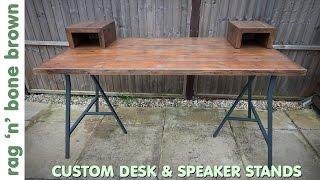 Custom Desk And Speaker Stands With Ikea Lerberg Legs (part 2 of 2)