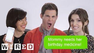 Anna Kendrick, Aubrey Plaza & Adam DeVine Show Us The Last Thing on Their Phones | WIRED
