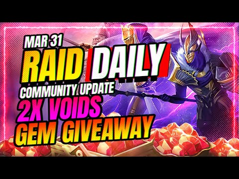 2x VOIDS! GEM GIVEAWAY! WRAP UP! | RAID Shadow Legends