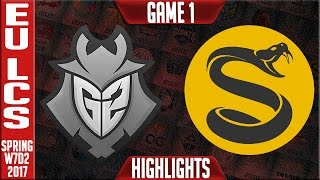 G2 vs Splyce Game 1 Highlights - EU LCS W7D2 Spring 2017 - G2 vs SPY G1