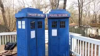 Homemade Full Size Cardboard Refrigerator Box Doctor Who Tardis