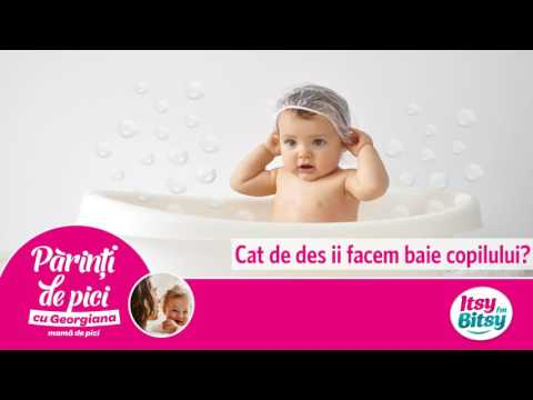 Cat de des ii facem baie copilului?