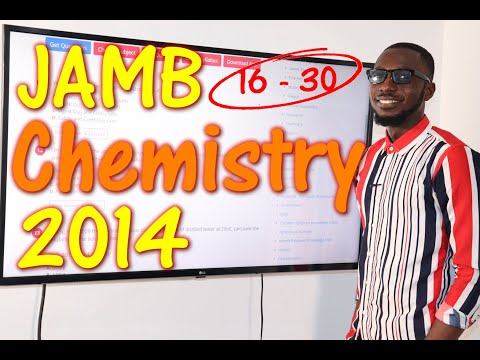 JAMB CBT Chemistry 2014 Past Questions 16 - 30