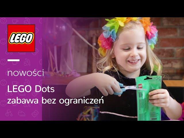 Tosia poleca: LEGO DOTS    atrakcje na domowy kinderbal