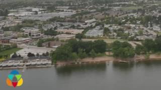 Aerial tour of Kelowna's lakeshore defences
