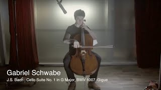 Gabriel Schwabe | Gigue from J.S. Bach Cello Suite No. 1