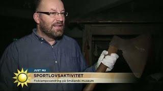 Häng med på ficklampsvandring på Smålands museum - Nyhetsmorgon (TV4)