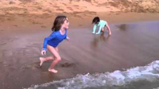 Playing at Salt Pond beach