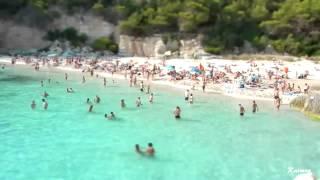 Tilt Shift ( Efecto maqueta ) calas del sur y del norte de Menorca