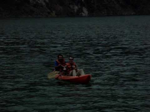 Kayaking in Quilotoa Crater Lake