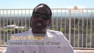 Charlie Wilson speaks on running off stage