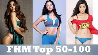 FHM 100 Sexiest 2017 (Top 50-100)