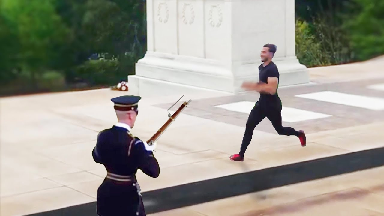 He Tried To Mess With A Tomb Of The Unknown Soldier Guard