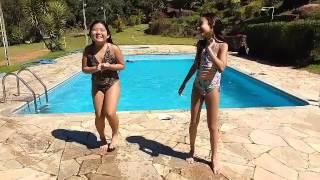 Desafio da piscina + Desafio fale qualquer coisa (feat.Minha amiga Izabelle)