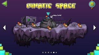 JUGANDO EN UNA NUEVA ISLA! [Lunatic Space] | Geometry Dash World | Fan-Made by Jeikeytor