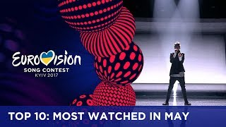 TOP 10: Most watched in May 2017 - Eurovision Song Contest